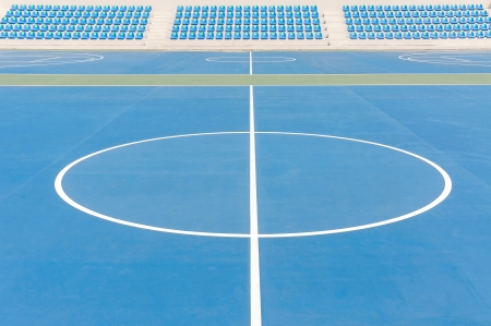 level playing field: Synthetic sports field Stock Photo
