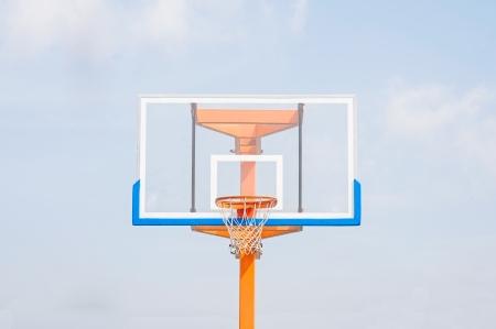 b ball: Basketball hoop  Stock Photo