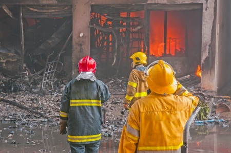 Firefighters fighting fire