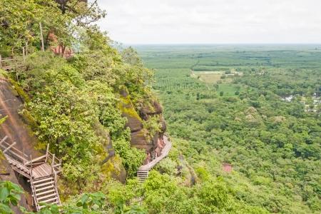 parc naturel: (Phu Thok) high mountain view near the village, Buengkan province, Thailand