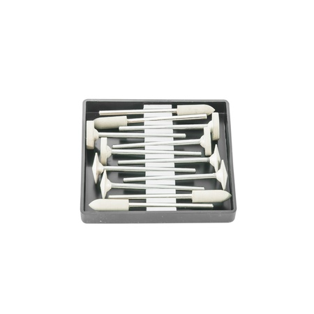 onlays: Equipos tales como taladros o amoladoras un usado en un laboratorio dental, pulidor de Porcelana Foto de archivo