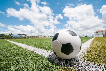 soccer pitch Standard-Bild