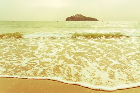Sea, Nature background in vintage style. photo