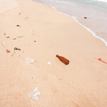 polluted beach photo