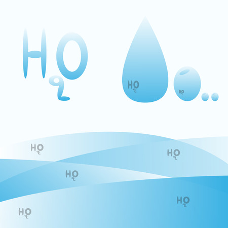 h20: Sign of water  H2O  Template ideas for design   Illustration