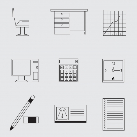 typing machine: Office Icons