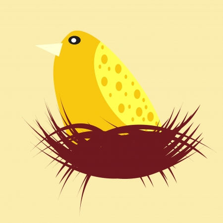 Birds on the nest Vector