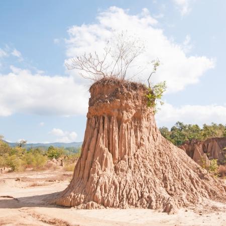 precipitate: Ancient corrosion of soil by rain and wind at Kork Suo,Nan,Thailand