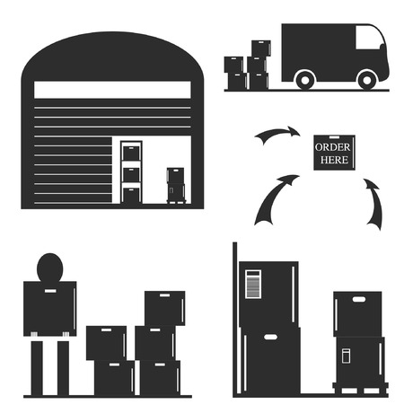 Warehouse illustration Vector