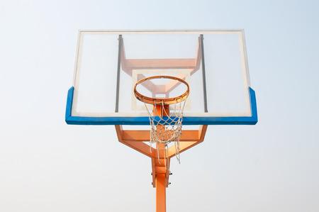 intramural: Old basketball hoop
