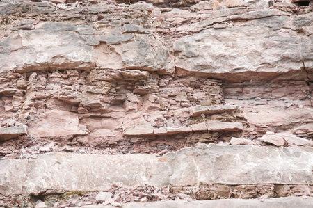 stratigraphy: Fault in sandstone strata deformation