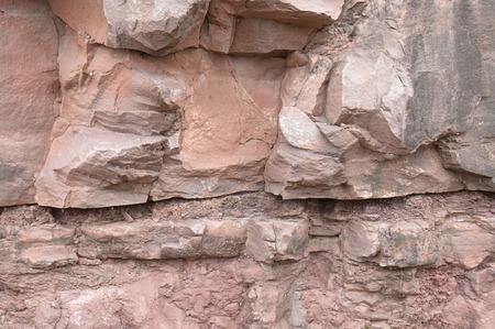 stratigraphy: Limestone rock
