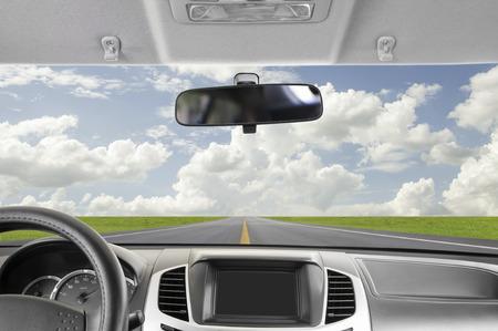 Driving to sky Standard-Bild