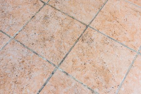 tiled: Mildewed tiled floor Stock Photo