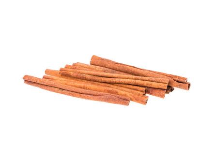 white backing: cinnamon stick on white background
