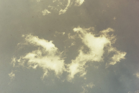 blue cloudy sky: Vintage background of blue cloudy sky