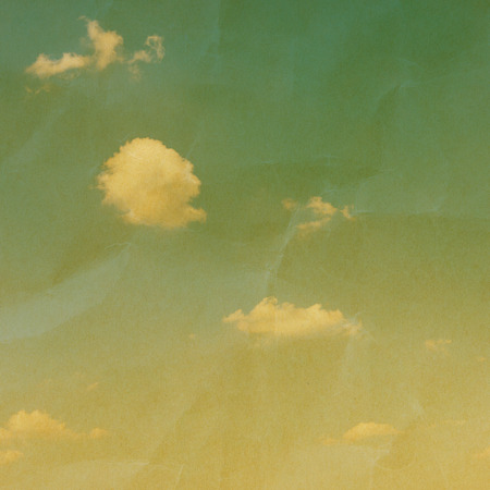 yellowed: vintage background with sky