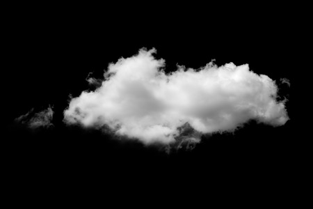 cloud: clouds on black background Stock Photo