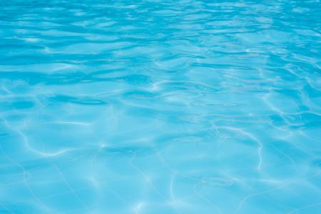 青いプール水の背景 写真素材
