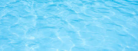 Blue pool water background Stock Photo