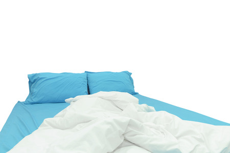 bedder: bed isolated on white background Stock Photo