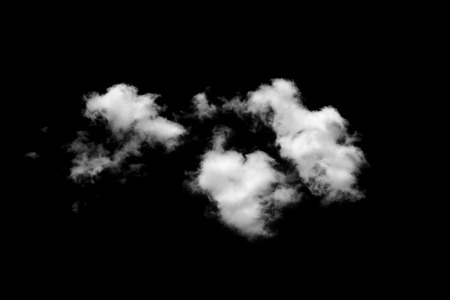 cloud shape: clouds on black background Stock Photo
