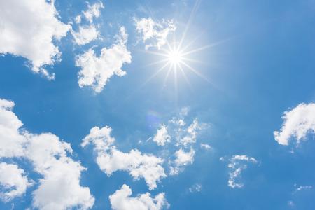 Sun, blue sky Stock Photo