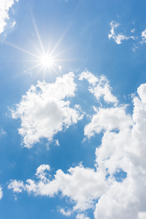 clouds sky: Sun, blue sky Stock Photo