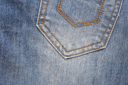 jeans pocket: Close up blue jeans pocket.