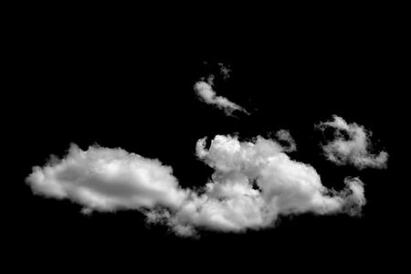 clouds on black background Archivio Fotografico