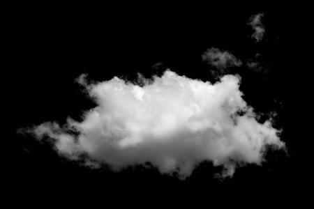 Cloud isolated on black background Standard-Bild
