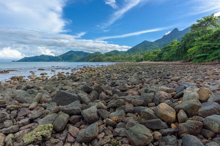 mook: Rocks, landscape rocks beach in Kai Mook beach at Koh Chang, Thailand.