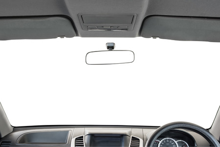 car detail: Car interior isolated on white background