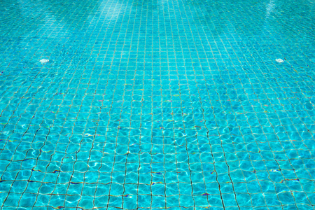 shallow: Blue pool water background Stock Photo