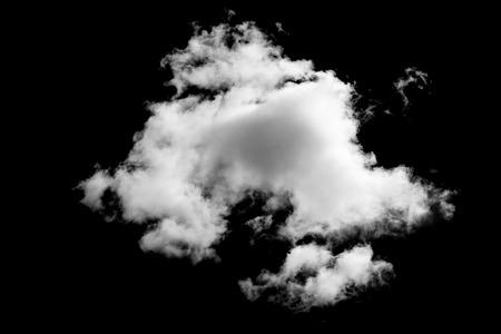 黒の背景に雲