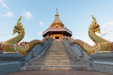 thani: Thai temple, Wat Phothisompom at Udon Thani, Thailand