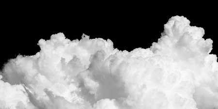 clouds on black background Standard-Bild