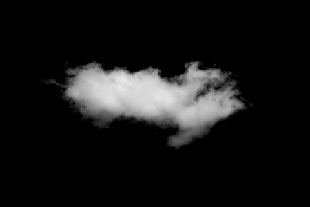 black pattern: clouds on black background Stock Photo