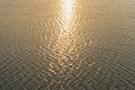 nature of sunlight: water waves of lake on sunlight