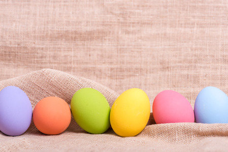 cotton fabric: Easter eggs on cotton fabric