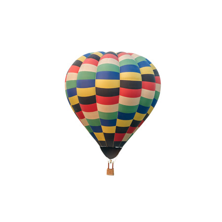 hotair: Colorful hot-air balloon isolated on white background