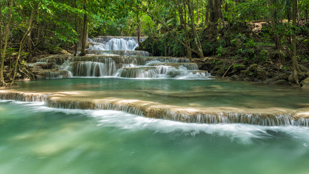 Wonderful waterfall in Kanjanaburi Province, Thailand