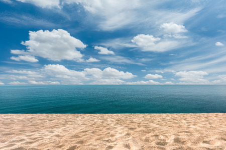 beach and sea with blue sky background