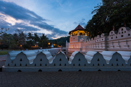 kandy: Temple of the Sacred Tooth Relic at Kandy, Sri Lanka