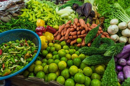 Fresh and organic vegetables at farmers market in Sri lanka Stock Photo