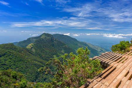 Wonderful and Beautiful landscape of Worlds End within the Horton Plains National Park in Sri Lanka