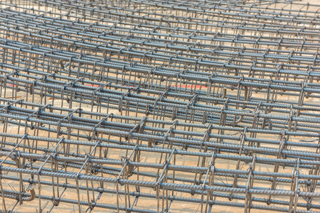 metal grid: Steel rods bars can used for reinforce concrete Stock Photo