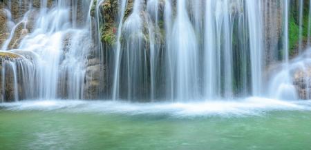 Close up waterfall