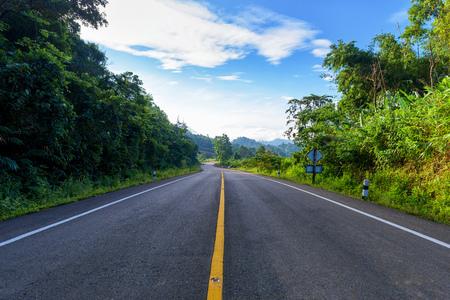 Asphalt road and landscape countryside.