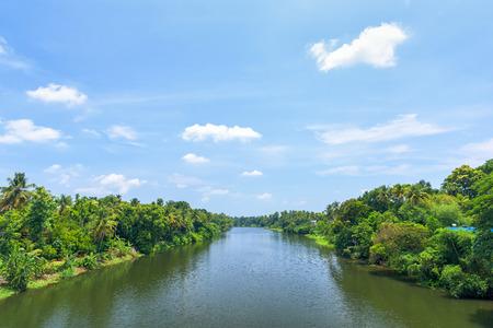 River view in Kerala, India.